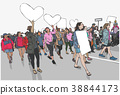 Womens protest, march for equality and rights 38844173