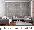 3d rendering of luxury loft living room 38844201