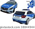 Police Car Vehicle 38844944