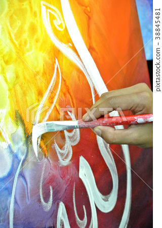 Hand painting of Arabic calligraphy 38845481