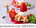 草莓华夫饼干 38846041