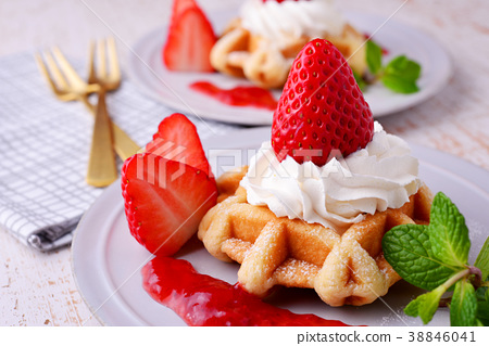 草莓華夫餅乾 38846041