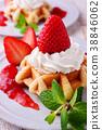 딸기 와플 케이크 38846062