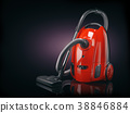 Vacuum cleaner isolated on  black background. 38846884