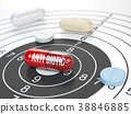Pills on target and antibiotic in the center 38846885