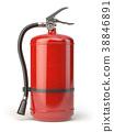 Fire extinguisher isolated on white background. 38846891