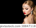 Portrait of young woman with evening make up 38847118