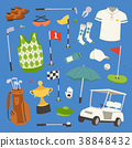 Golf player clothes and accessories vector 38848432