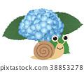 수국, 꽃, 달팽이 38853278
