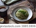 罗勒酱意大利面 38853806