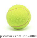 Single tennis ball isolated on white background 38854089