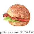 Hand Drawn Hamburger 38854152