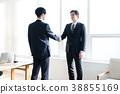 握手的企業圖像人 38855169