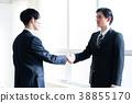 握手的企業圖像人 38855170