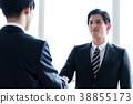 握手的企業圖像人 38855173