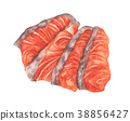 red fish fillet, Fresh Salmon sashimi. 38856427