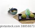녹차 맛의 과자 일본 과자 38856673