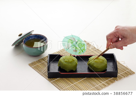녹차 맛의 과자 일본 과자 38856677