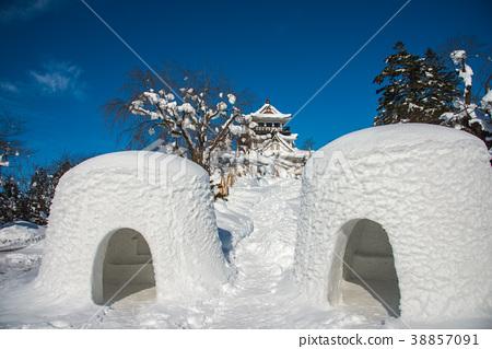 ปราสาทอาคิตะโยโคเทะฤดูหนาวและคามาคุระ 38857091