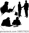 Business Silhouettes 38857820