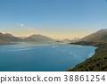 Wanaka Lake blue colour high view 38861254