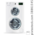 Front Load White Double Washing Machine 38861545