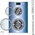 Open Double Washing Machine  38861552