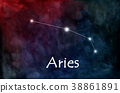 Aries horoscope or zodiac or constellation 38861891