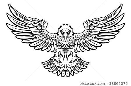 Eagle Cricket Sports Mascot 38863076