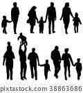 family, silhouette, vector 38863686