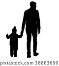 family, father, silhouette 38863690