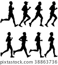 runner, vector, marathon 38863736