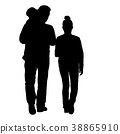 family, silhouette, man 38865910