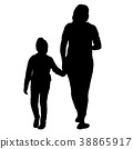 family, silhouette, mother 38865917
