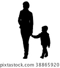family, silhouette, child 38865920