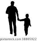 family, father, silhouette 38865922