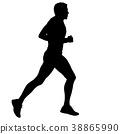 runner, marathon, silhouette 38865990