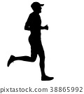 runner, marathon, silhouette 38865992
