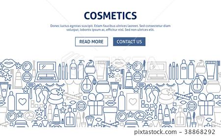 Cosmetics Banner Design 38868292