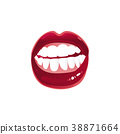 vector, lip, woman 38871664