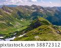 ridge, grassy, slope 38872312