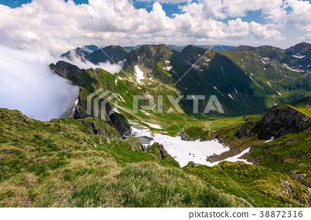 snow in the valley of Fagaras mountains 38872316