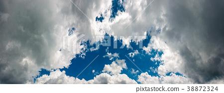 beautiful blue hall on an overcast sky 38872324