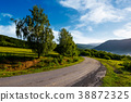 countryside road in mountains 38872325