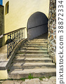 steps upstairs in to the tower 38872334