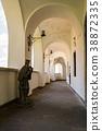 arcade of Palanok Castle inner courtyard 38872335