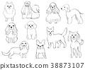 สัตว์,ภาพวาดมือ สัตว์,สุนัข 38873107