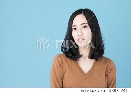 여성 인물 블루 백 이미지 38873241