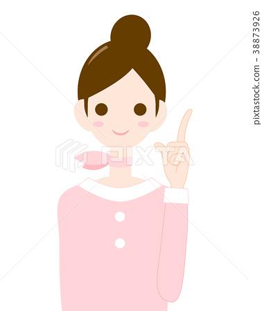 成熟的女人 一個年輕成年女性 女生 38873926