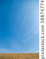 ท้องฟ้าสีฟ้าและเครื่องบิน 38874774